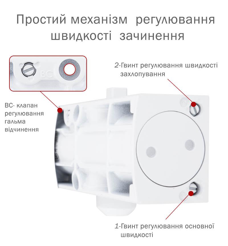 механізм регулювання швидкостей дотягувача